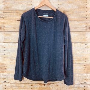 Columbia Long Sleeve Shirt Grey White Speckle L